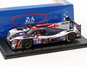 Ligier JS P217 #22 24h LeMans 2018 Hanson, Di Resta, Albuquerque 1:43 Spark
