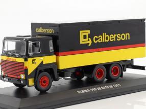 Scania 140 V8 LKW Calberson year 1971 yellow / black / red 1:43 Ixo