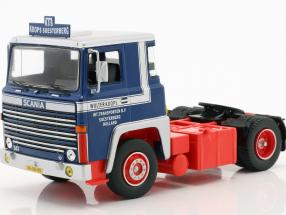 Scania LBT 141 LKW Wolter Koops year 1976 blue / red / beige 1:43 Ixo