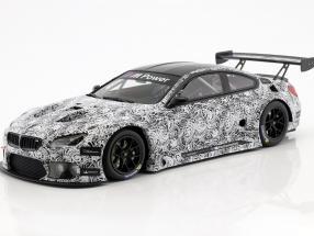 BMW M6 GT3 Presentation Car 24h Spa 2015 white / black 1:18 Minichamps