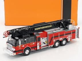 Smeal 105 with ladder US Firetruck Huntersville year 2014 red / black 1:43 Ixo