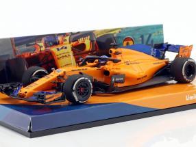 Fernando Alonso McLaren MCL33 #14 Spanish GP formula 1 2018 1:43 Minichamps