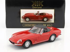 Ferrari 275 GTS/4 NART Spyder mit Alufelgen Baujahr 1967 rot 1:18 KK-Scale
