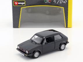 Volkswagen VW Golf Mk1 GTI year 1979 black 1:24 Bburago