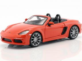 Porsche 718 (982) Boxster year 2016 orange 1:24 Bburago