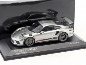 Porsche 911 (991 II) GT3 RS year 2018 GT silver metallic 1:43 Minichamps
