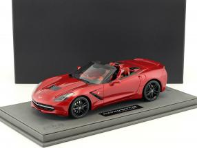 Corvette Stingray Convertible year 2014 cristal red with Showcase 1:18 BBR