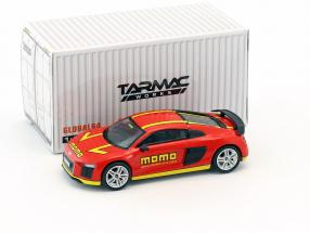 Audi R8 V10 Plus Momo rot / gelb 1:64 Tarmac Works