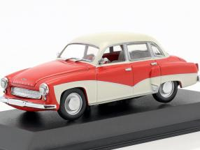 Wartburg 311 Baujahr 1955-1965 rot / weiß 1:43 Minichamps / Falsche Umverpackung