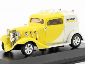 Kärcher Yellow-Car Hotrod gelb / weiß 1:43 Minichamps / Falsche Umverpackung