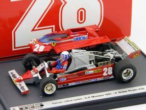 Didier Pironi Ferrari 126CK GP Monaco Formel 1 1981 1:43 Brumm