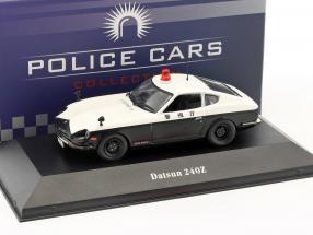 Datsun 240Z police Japan black / white 1:43 Atlas
