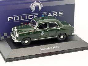 Mercedes-Benz 180 D Polizei Deutschland Baujahr 1953 grün 1:43 Atlas
