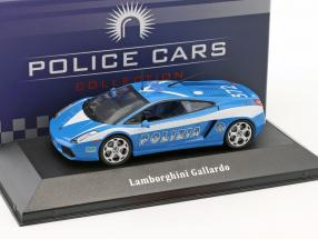 Lamborghini Gallardo police Italy year 2004 blue / white 1:43 Atlas