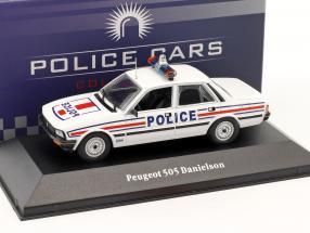 Peugeot 505 Danielson Polizei Frankreich Baujahr 1983 weiß / blau / rot 1:43 Atlas