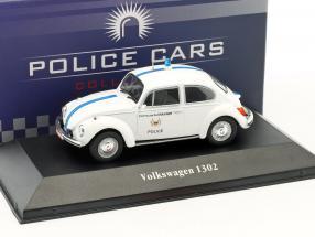 Volkswagen VW Käfer 1302 Polizei Belgien Baujahr 1970 weiß 1:43 Atlas