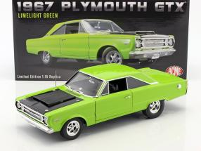 Plymouth Hemi GTX year 1967 bright green 1:18 GMP
