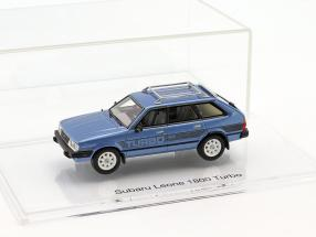 Subaru Leone 1800 Turbo year 1983 planet blue 1:43 DNA Collectibles