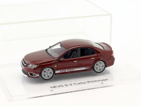 Nevs 9-3 Turbo Prototyp Saab 99 Turbo Tribute year 2014 cardinal red 1:43 DNA Collectibles