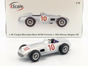 J.M. Fangio Mercedes-Benz W196 #10 Winner Belgian GP World Champion formula 1 1955 1:18 iScale