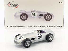 Piero Taruffi Mercedes-Benz W196 #50 4th British GP Formel 1 1955 1:18 iScale