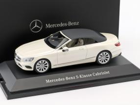 Mercedes-Benz S-Klasse Cabriolet (A217) diamond white 1:43 Kyosho