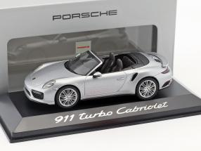 Porsche 911 (991) Turbo convertible silver 1:43 Herpa