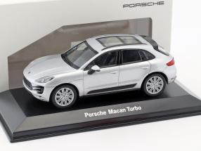 Porsche Macan Turbo silver 1:43 Welly