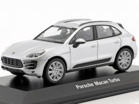 Porsche Macan Turbo silber 1:43 Welly