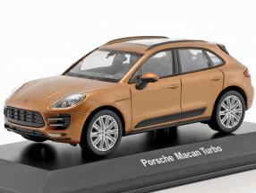 Porsche Macan Turbo gold metallic 1:43 Welly