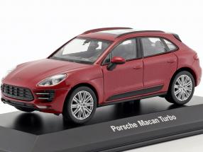 Porsche Macan Turbo dunkelrot metallic 1:43 Welly