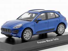 Porsche Macan Turbo blue metallic 1:43 Welly