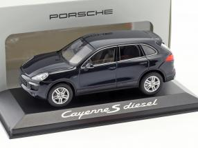 Porsche Cayenne E2 II S Diesel dunkelblau 1:43 Minichamps