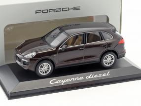 Porsche Cayenne E2 II Diesel mahogany brown metallic 1:43 Minichamps