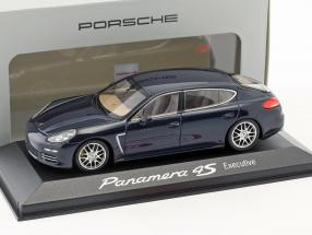Porsche Panamera 4S Executive Gen II. year 2014 dark blue 1:43 Minichamps