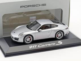 Porsche 911 (991/II) Carrera S Coupe Year 2016 silver 1:43 Herpa