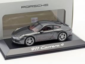 Porsche 911 (991) Carrera 4 Coupe Grey metallic 1:43 Herpa