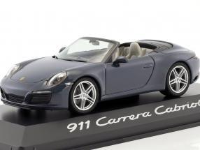 Porsche 911 (991/IICarrera Cabriolet Year 2016 mat Grey 1:43 Herpa