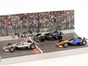 3-Car Set Podium Indy 500 2018 #12 Power #20 Carpenter #9 Dixon 1:64 Greenlight