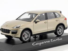 Porsche Cayenne Turbo year 2014 gold 1:43 Minichamps