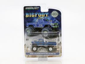 Ford F-250 year 1974 Bigfoot Original Monster Truck blue 1:64 Greenlight