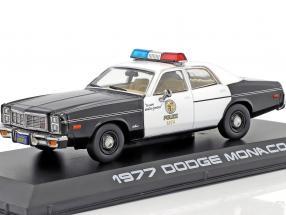 Dodge Monaco Metropolitan Police year 1977 Movie Terminator (1984) black / white 1:43 Greenlight