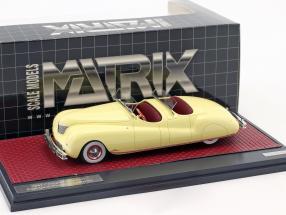 Chrysler Newport Dual Cowl Phaeton LeBaron Baujahr 1941 creme gelb 1:43 Matrix