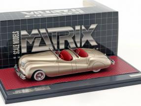 Chrysler Newport Dual Cowl Phaeton LeBaron year 1941 gold metallic 1:43 Matrix