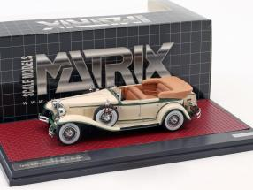 Cord L-29 Phaeton Sedan Open Top Baujahr 1931 creme weiß / grün 1:43 Matrix