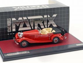 Mercedes-Benz 500K Tourer Mayfair Open Top Baujahr 1934 rot 1:43 Matrix