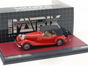 Mercedes-Benz 500K Tourer Mayfair Closed Top Baujahr 1934 rot 1:43 Matrix