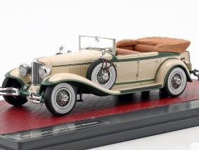 Cord L-29 Phaeton Sedan Open Top Baujahr 1931 creme weiß / grün 1:43 Matrix