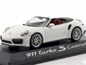 Porsche 911 (991) Turbo S Cabriolet weiß 1:43 Herpa