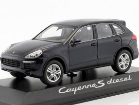 Porsche Cayenne E2 II S (958) Diesel 2015 dark blue 1:43 Minichamps